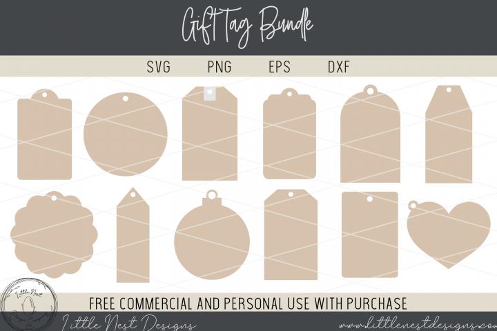 Chirstmas Gift Tags - Gift Tag Printables - 12 Gift Tag SVGs