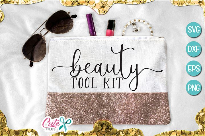 Beauty tool kit svg for crafter