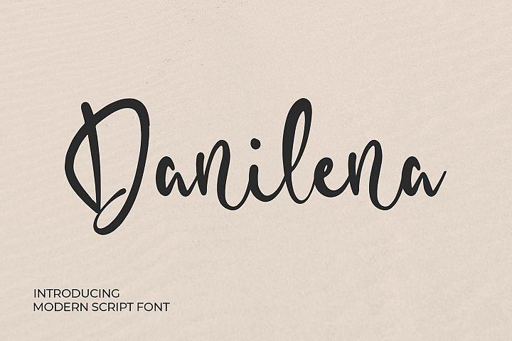 Danilena - Modern Script Font