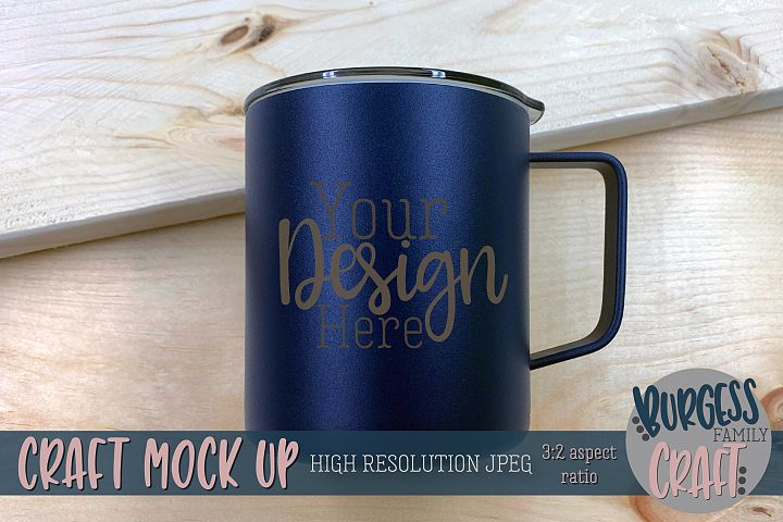 Mens pine wood camp mug Craft mock up|High Resolution