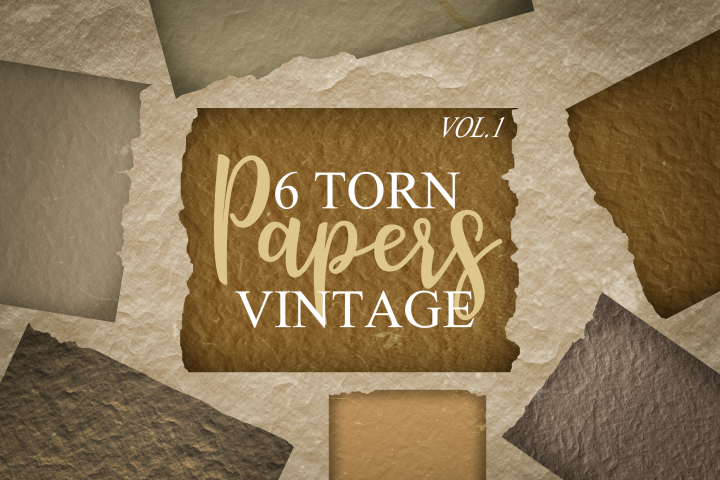Paper Texture Pack - 6 Torn Papers Vol.1