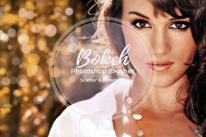 15 Bokeh Photoshop Brushes abr. - Scatter & Dynamics example 6