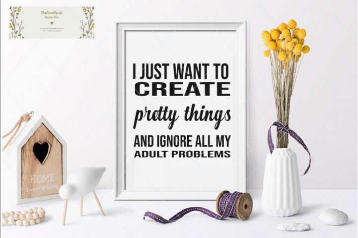 Crafting svg, hobby svg, quote, text, sewing room, craft roo
