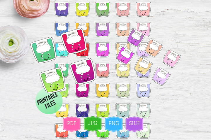 Bundle Fitness stickers planner Weight loss stickers