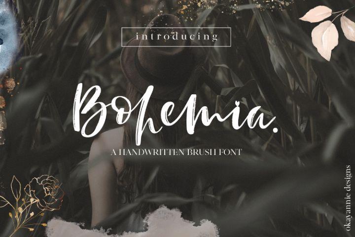 Bohemia - A Brush Script Font