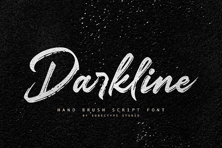 Darkline Brush Script Font