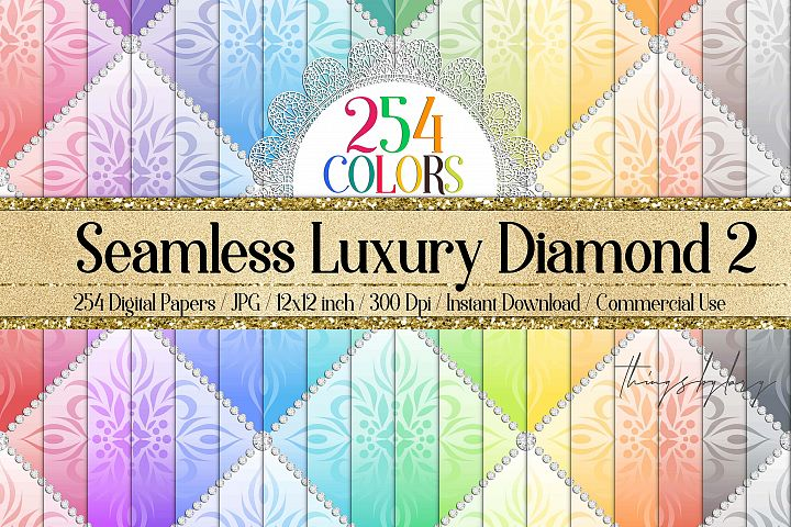 254 Seamless Luxury White Diamond Upholstery Digital Papers