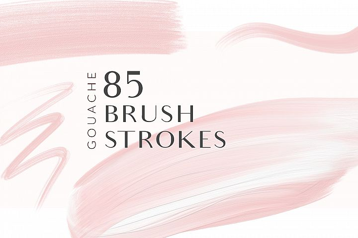 Blush Pink Brush Strokes Clipart