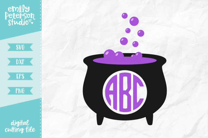 Cauldron Monogram Frame SVG DXF EPS PNG