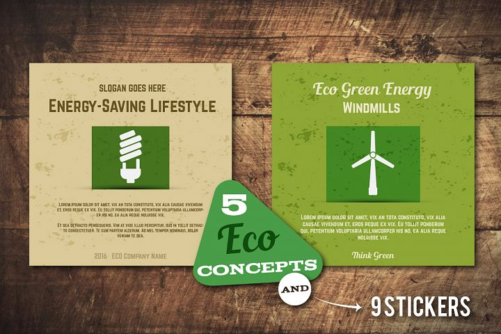 5 Eco Poster Concepts & Stickers example
