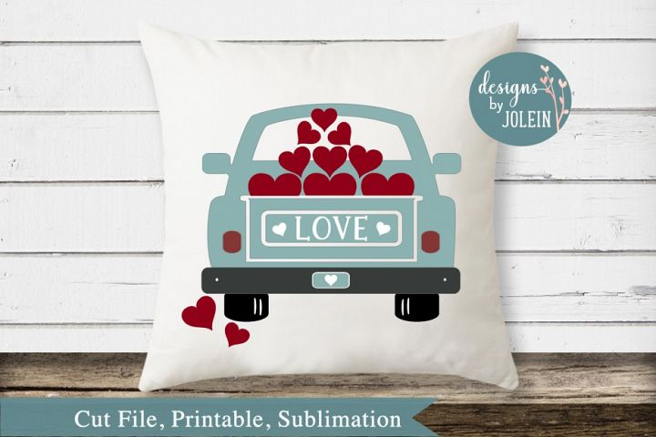 Valentine Truck SVG, png, eps, sublimation, printable