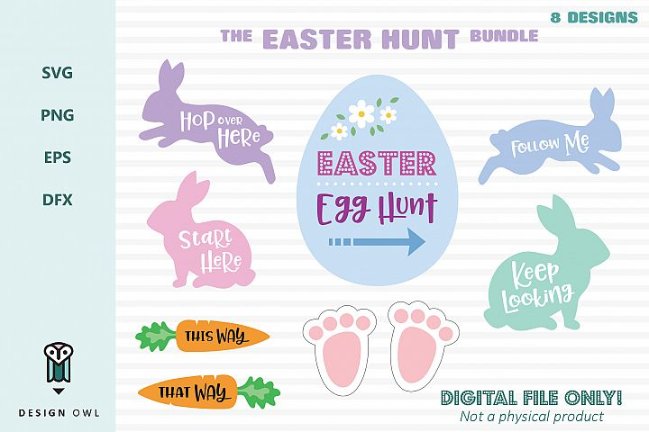 The Easter Hunt Bundle - SVG cut file bundle