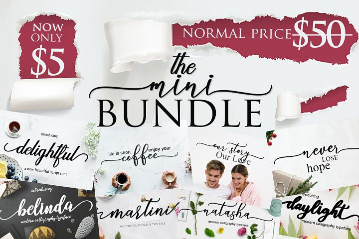 THE MINI FONT BUNDLE BY MRLETTERS VOL 3