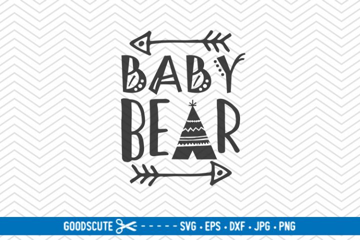 Baby Bear - SVG DXF JPG PNG EPS