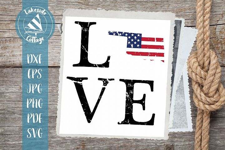 LOVE Oklahoma - 4th of july svg - memorial day svg dxf eps