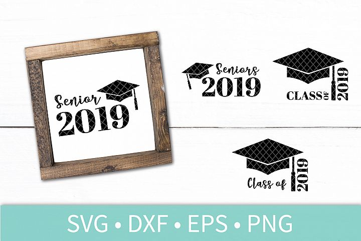 Graduation Cap Tassel Graduate 2019 Seniors SVG DXF Cut File