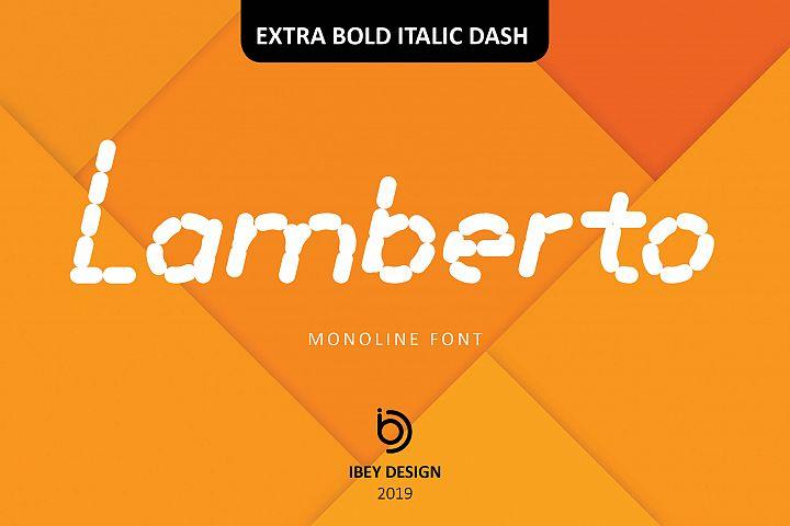 Lamberto Extra Bold Italic Dash - Monoline Font