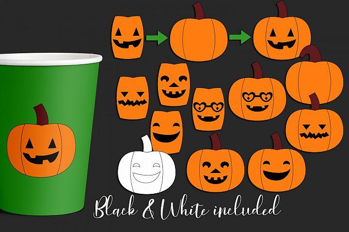 Halloween illustrations - DIY Jack O Lantern Pumpkins