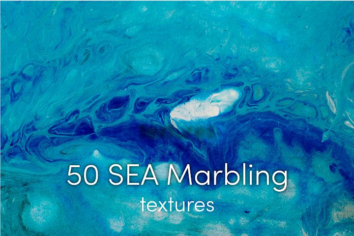 50 Sea marbling textures