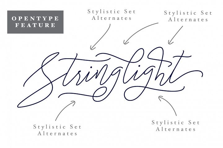 Stringlight Typeface - Free Font of The Week Design2
