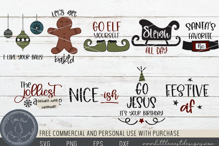 Sassy Christmas - 9 Funny Christmas SVG Bundle