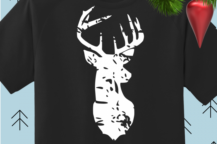 Deer Distressed svg dxf eps png