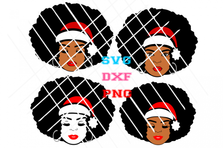 Afro Santa woman svg,