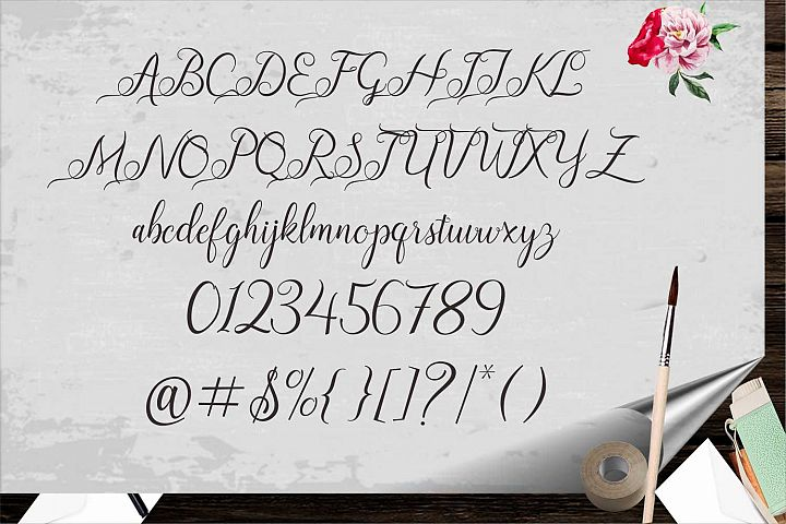 December Font example image 4