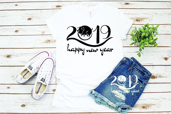 Happy new year, Pig year,pig