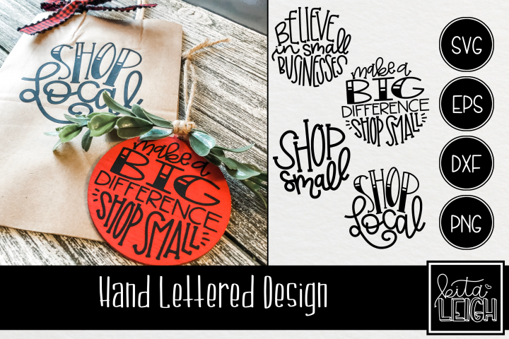 Hand Lettered Small Business Rounds SVG