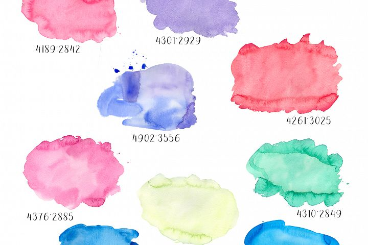 Watercolor textures example 2