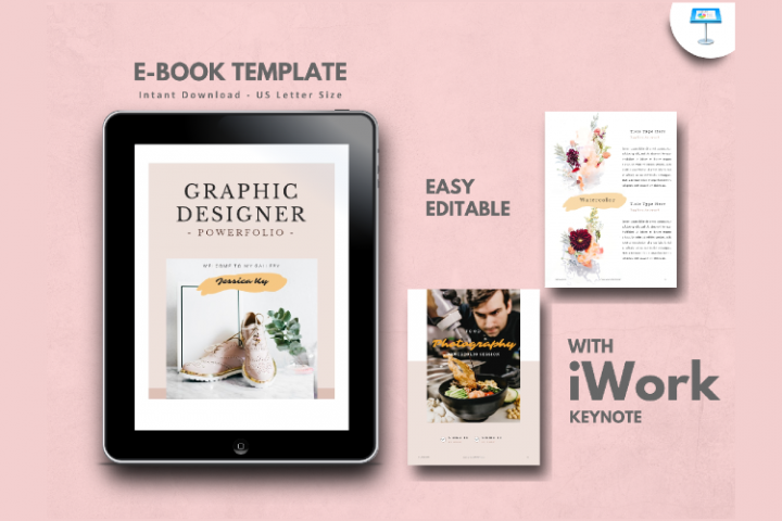 Graphic Designer Portfolio eBook Template Keynote Presentati