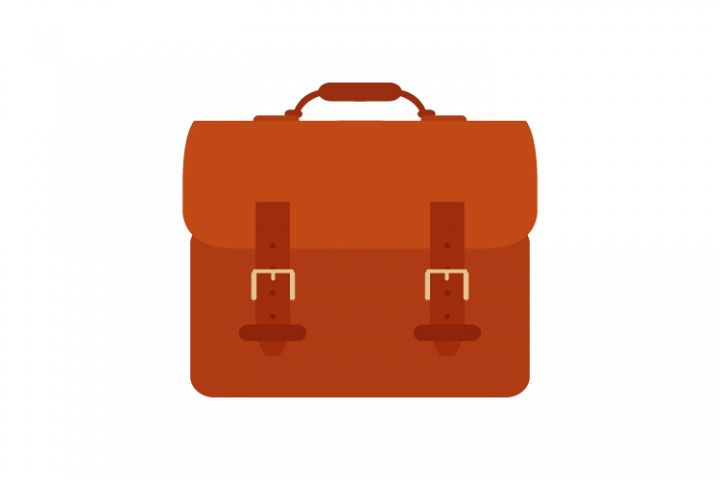 Suitcase work icon