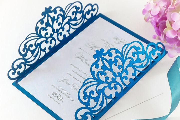 Gate fold wedding invitation , 5x7, SVG Cricut Template