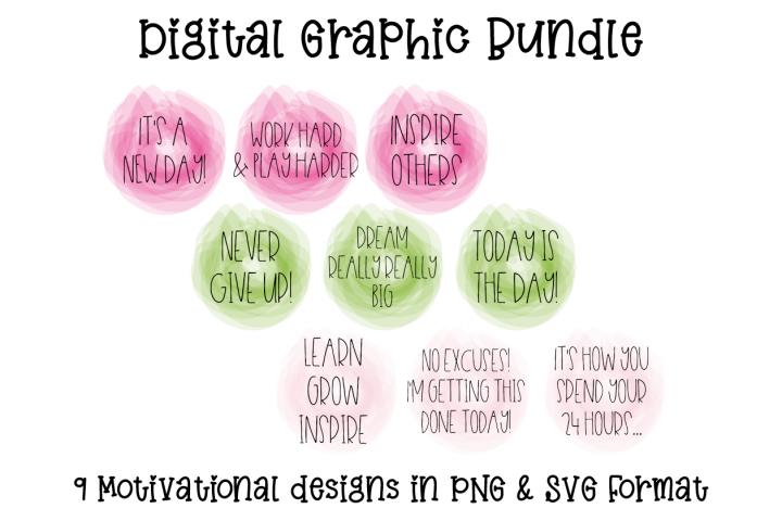 Motivational Digital Designs in PNG & SVG