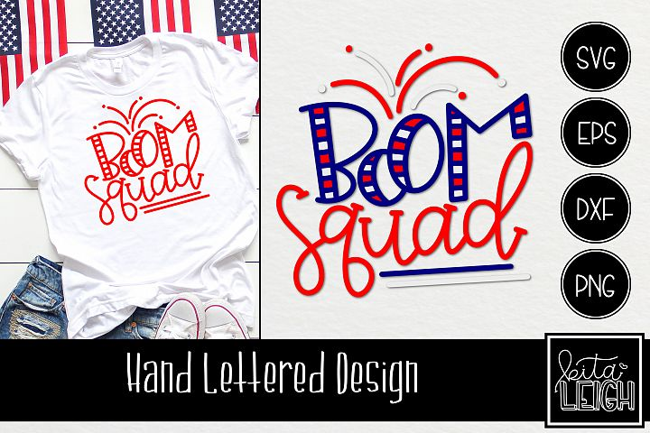 Boom Squad Hand Lettered SVG