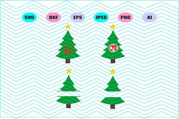 Christmas tree Svg Vector File Cricut Design Vinyl Decal