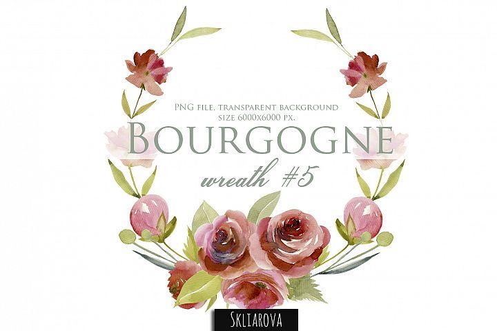 Bourgogne. Wreath #5