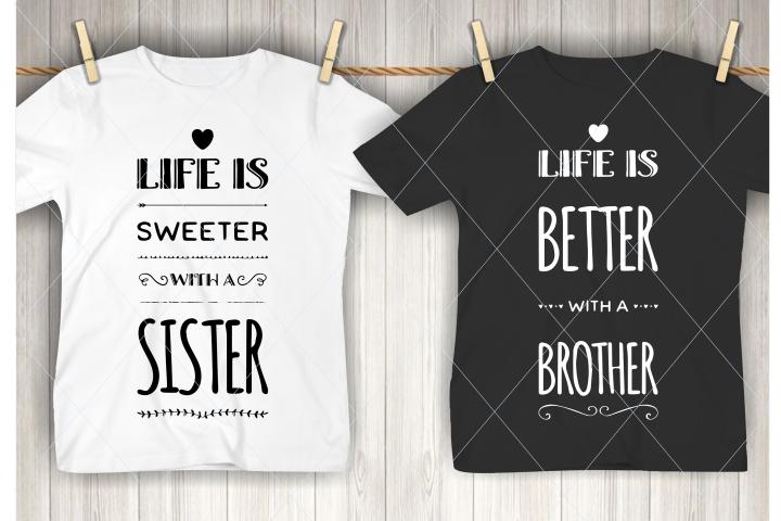 Brother svg, sister svg, family cut file, kids, children svg
