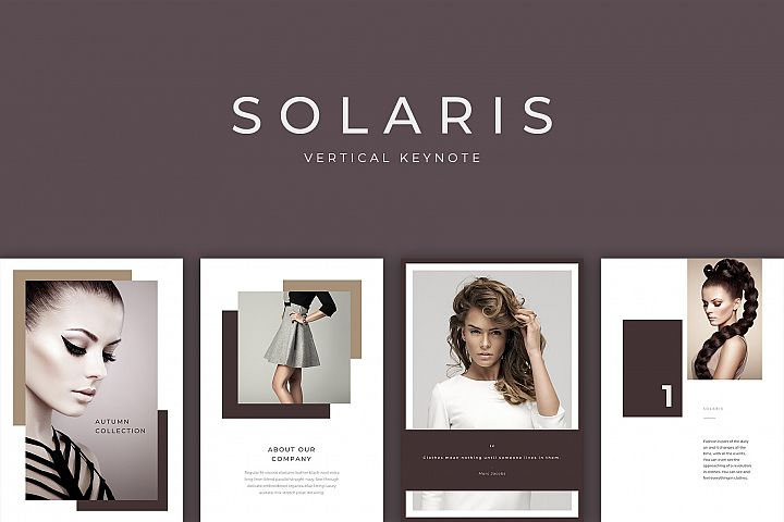 Solaris Vertical Keynote Presentation Template