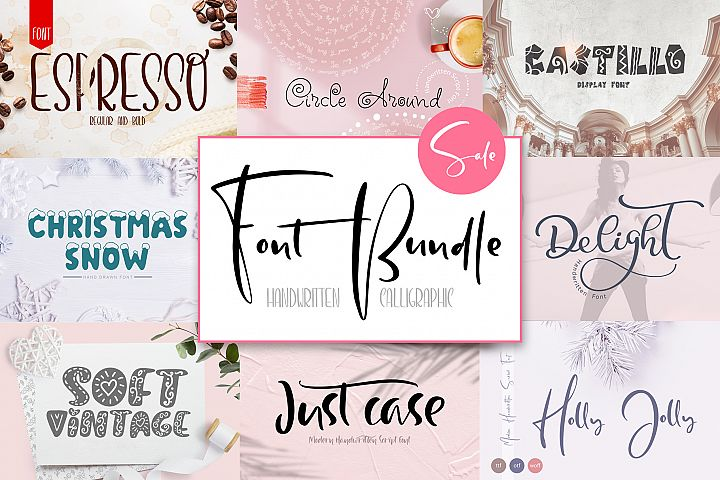 Font Bundle Handwritten Calligraphic