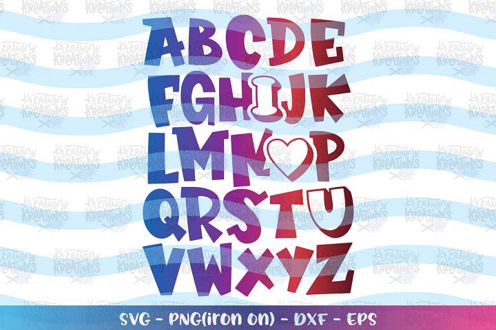 Valentines Day svg ABC I love you Alphabet