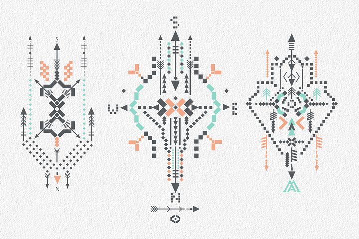 Boho totem. Sacred geometry example 9