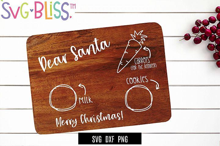 Cookies For Santa Board SVG Cut File- Christmas Holiday SVG