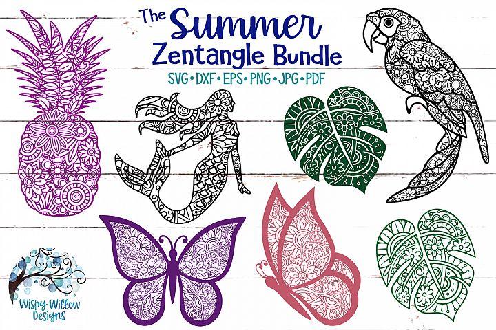 The Summer Zentangle SVG Bundle   Mermaid   Pineapple