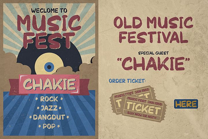 Chakie - Retro Brush Fonts