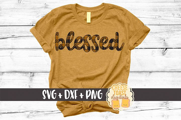 Blessed - Buffalo Plaid Thanksgiving SVG PNG DXF Cut Files