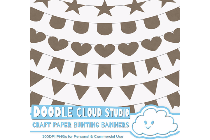Kraft Paper Bunting Banners Cliparts Wrapping Paper Texture Flags