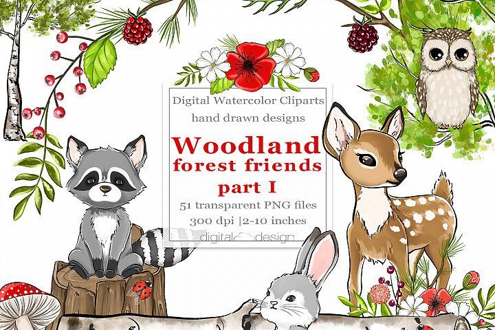 Woodland Forest Friends part 1 - Clipart