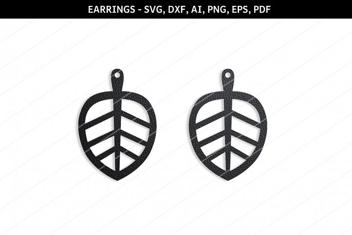 Leaf earrings svg,SVG earring,Cricut files,Leaf print,Cameo